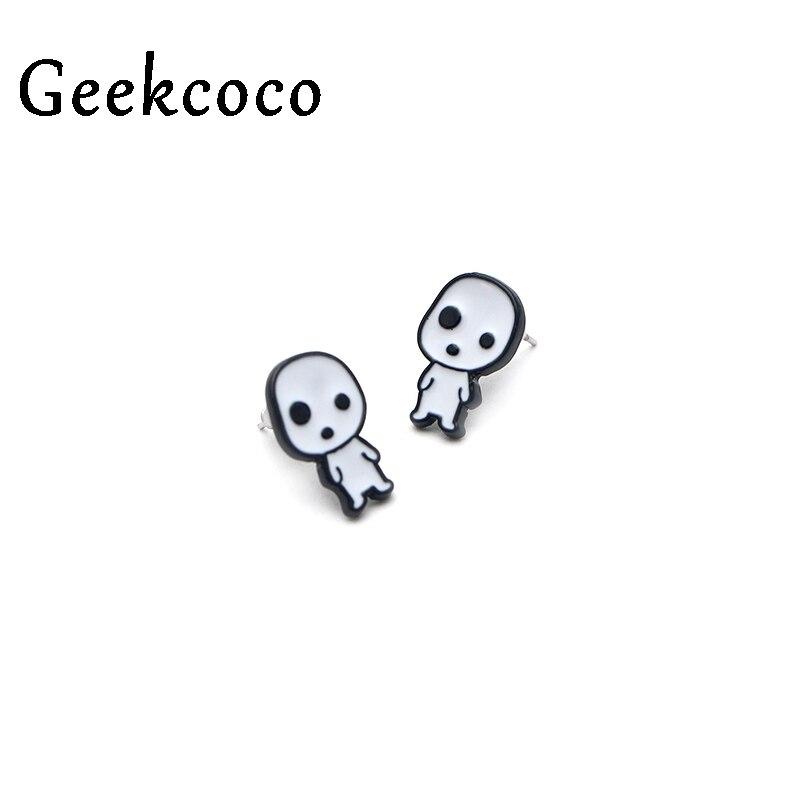 Princess Mononoke Creatives minimalism Earrings for Women Lovely Earrings Girls Earring Stud Accessories Cartoon Jewelry J0315 in Stud Earrings from Jewelry Accessories