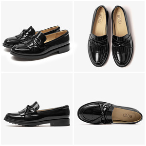 Image 5 - BeauToday Women Moccasin Loafers Handmade Tassel Bowknot Round Toe Slip On Genuine Leather Top Quality Lady Shoes 27064