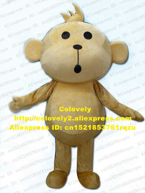 Cowardly Yoyo&cici Hip Pop Monkey Mascot Costume Adult Mascotte Round Belly With Pale Brown Belly Small Nose Mouth Zz3202 Drip-Dry Costumes & Accessories