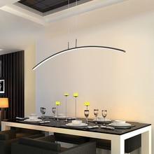 LICAN מודרני תליון נברשת תאורה עבור משרד אוכל סלון מטבח בית דקור זוהר LED אור שחור נברשת
