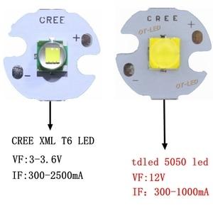 Image 1 - 5 PZ CREE XML XM L T6 LED U2 10 W BIANCO Bianco Caldo di Alto Potere LED 5050 12 V Diodo Emettitore con 12mm 14mm 16mm 20mm PCB per DIY