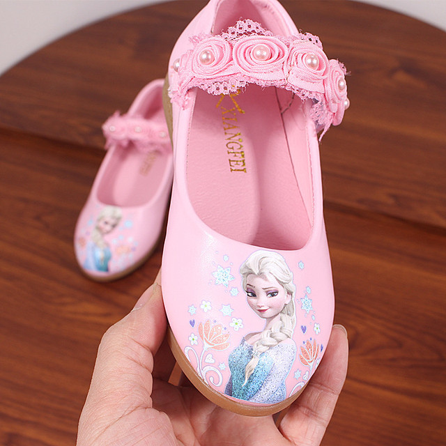 d7603a036eefc Children Shoes Kids Girls Fashion Princess Spring Cute Elsa Sandals  Chaussure Enfants flower lace Flat Party Elsa Shoes
