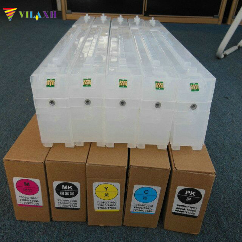 T6941 - T6945 Empty Refillable Ink Cartridge For Epson SureColor T3200 T5200 T7200 T3270 T5270 T7270 T3270D T5270D T7270D new t6941 t6945 compatible for epson refillable ink cartridge for epson t3000 t5000 t7000 t3200 t5200 t7200 t3070 t5070 t7070