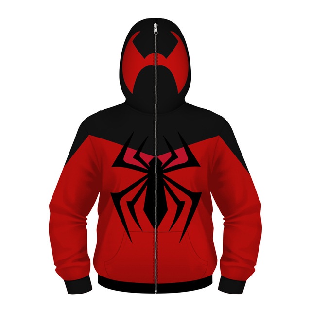 New 2019 Fashion Boys 3D Avengers Spiderman Iron Man Zipper Masked Hooded Jacket Coat Children Kids Cosplay Outerwear Clothes