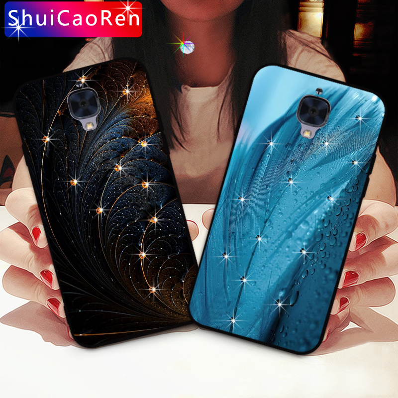 Luxury Silicone <font><b>Cases</b></font> For <font><b>Oneplus</b></font> <font><b>3</b></font> One plus <font><b>3</b></font> <font><b>Glitter</b></font> Diamond Shell Back Cover For <font><b>Oneplus</b></font> 3T <font><b>3</b></font> T 1+<font><b>3</b></font> Rhinestone <font><b>Case</b></font> image