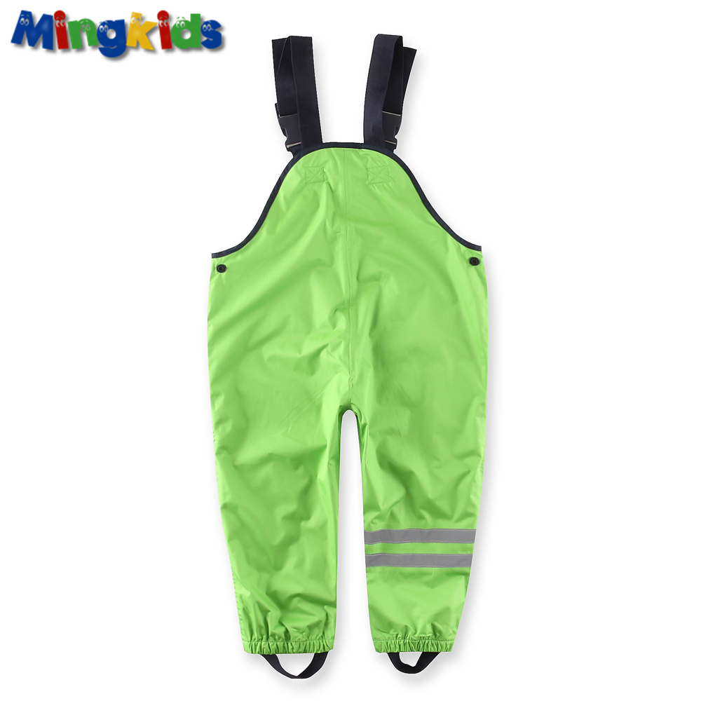 Mingkids Waterproof overall cotton padded trousers boys outdoor German quality ski rain pants 98-128 European size