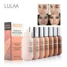 Lulaa 35ml matte base de fundação líquido maquiagem corretivo de longa duração cobertura completa contorno à prova dtágua maquiagem tslm2