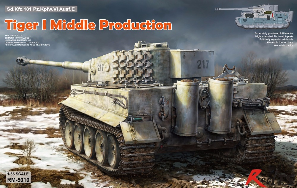 RealTS RMF RM-5010 1/35 Sd.Kfz. 181 Pz.kpfw.VI Ausf. E Tiger I Middle Production