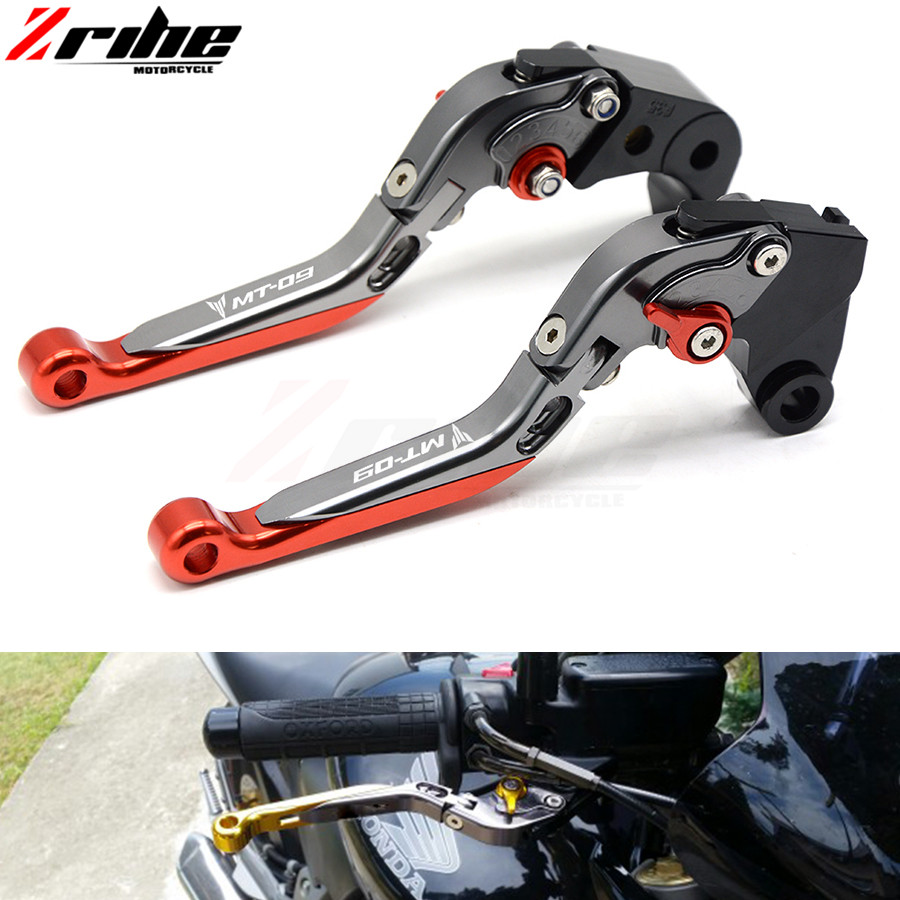 CNC Aluminum Levers for Yamaha MT-09/SR/FZ9 FZ09 2014-2017 FJ-09 MT09 Tracer 2015-2017 Adjustable Motorcycle Brake Clutch Lever cnc billet adjustable long folding brake clutch levers for yamaha fz6 fazer 04 10 fz8 2011 14 2012 2013 mt 07 mt 09 sr fz9 2014
