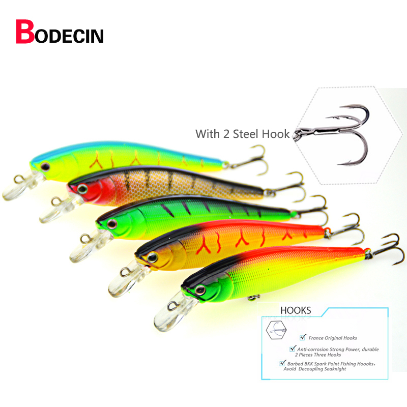 5PS Artificial Fishing Lures Hard Minnow Sinking Supplies Fly Lure Set China Pike Tackle Carp Fish Bait-artificial Wobbler Baits ilure seawater bait fishing lures minnow 9 3cm 9g pesca hard lure minnow carp artificial ball jerkbait wobbler hook carp bait