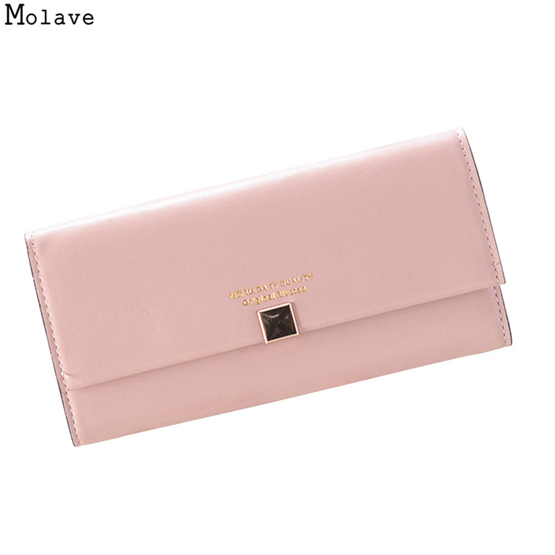 MOLAVE Letter Zip Wallet pu Long Fashion Women Wallets Designer Brand Clutch Purse Lady Party Wallet Female Card Holder se28 aim fashion women s long clutch wallet and purse brand designer vintage leather wallets women bags high quality card holder n801