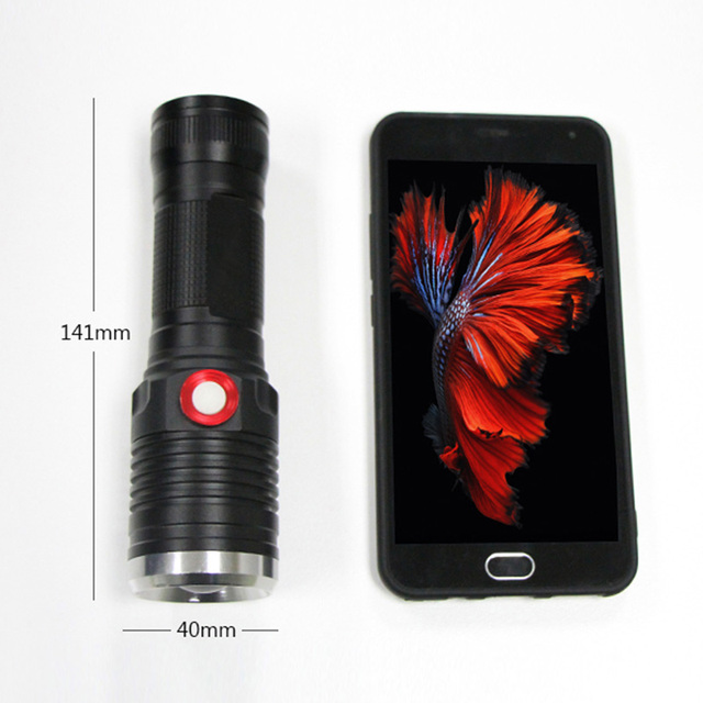 Powerful zoom lantern CREE XM L2 USB flashlight 26650 OR 18650 rechargeable battery waterproof Portable led Torch