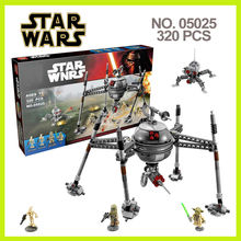 Compatible WithLego lepin 05025 Star Wars assembled track guided robot spider marvel Minifigures blocks bricks baby