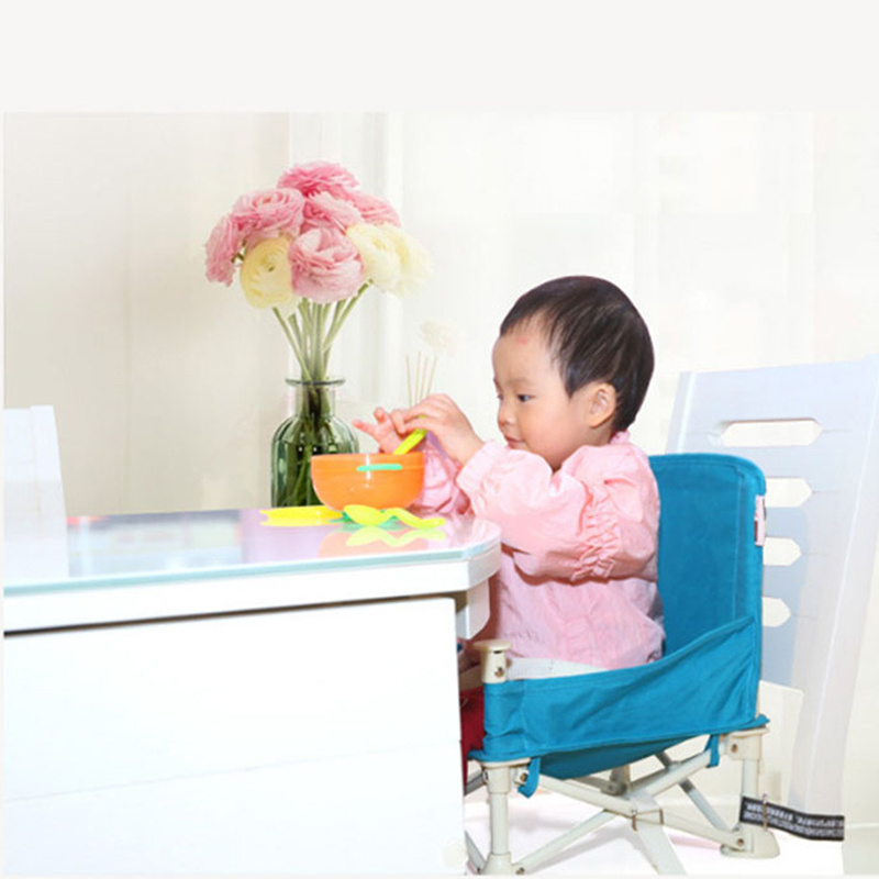 Baby Foldable Feeding Chair Oxford Cloth Cushion Round feeding Seat Portable Smooth paint Outdoor Baby mobile dining Table Chair цена 2017