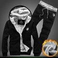 New Hoody Winter Men'S Sportswear Casual Suit Hoodies Men Hip Hop Zipper Streetwear Pants Street Sweatshirts Hoodie Tracksuit 2p