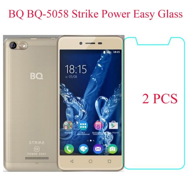 Tvrzená skleněná fólie 2PCS BQ 5058 pro BQ BQ-5058 Úderná síla - Příslušenství a náhradní díly pro mobilní telefony