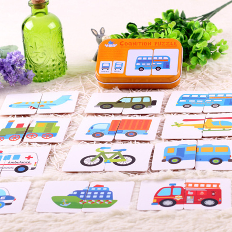 Baby Toys Cognitive-Card Puzzle Infant Gift Training Animal/life-Set Start Pair Early-Head