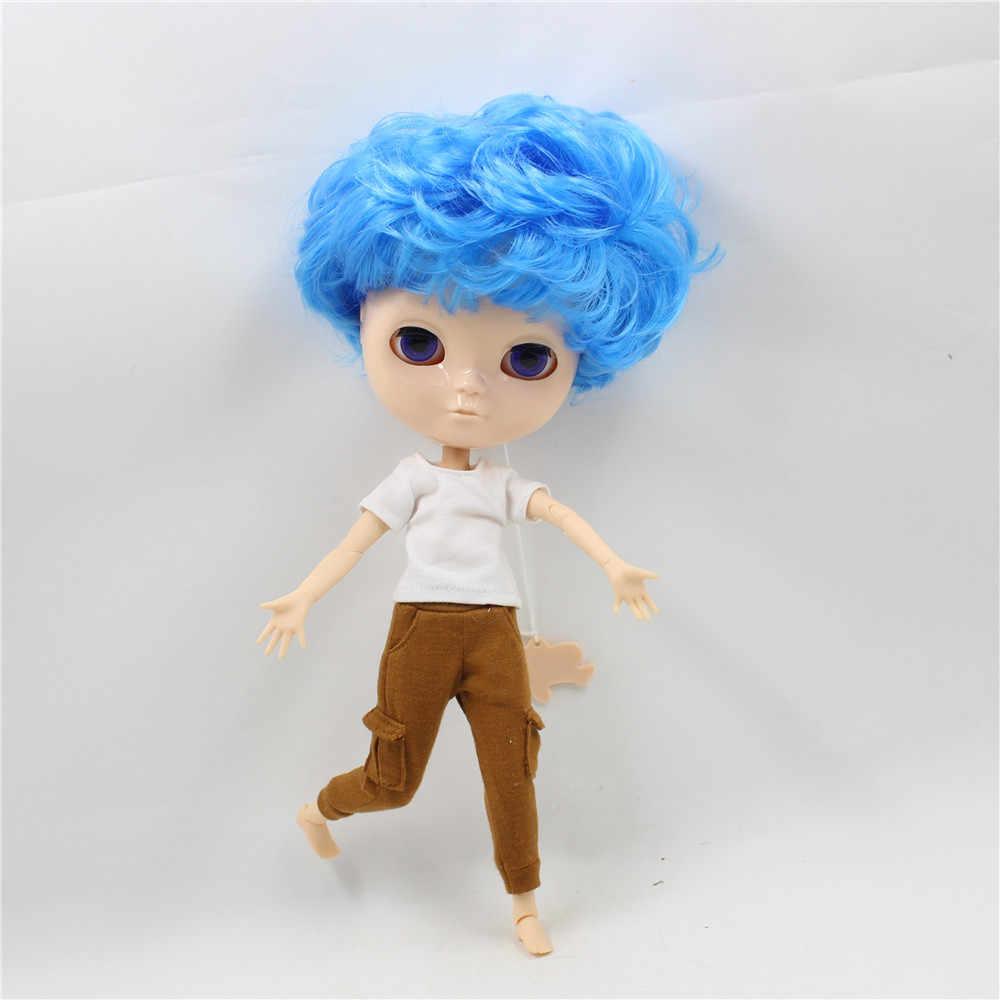 Ледяная кукла DBS мальчик шарнир тело синий вьющиеся волосы 30 см игрушка кукла натуральная кожа без макупа