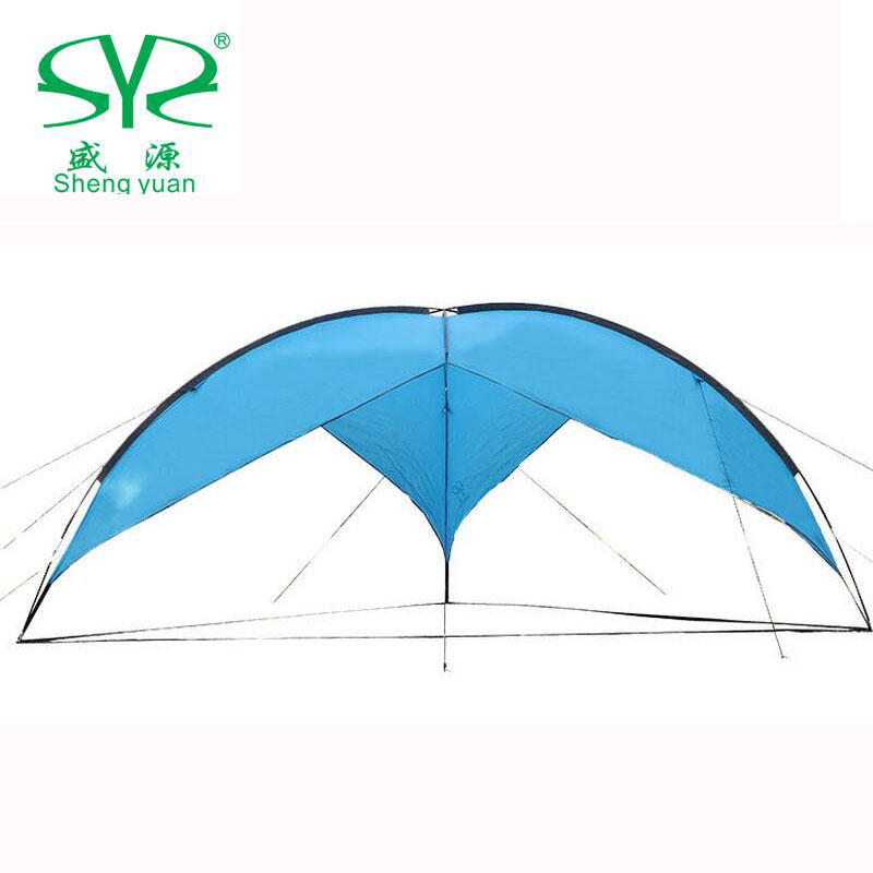 Outdoor Sun Awning Tents Camping Family Fishing Canopy 5 - 8 Personsun Beach Tent Gazebo Shelter Shade Canopy For Beach Party