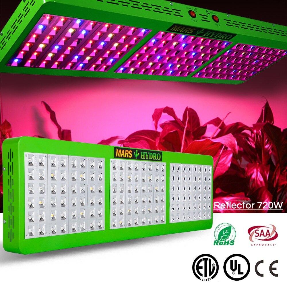 Led Coltiva La Luce Mars Hydro Riflettore 720 W Pianta Coltiva La Luce per La Coltura Idroponica Crescere Box Veg Fiore Spettro Completo