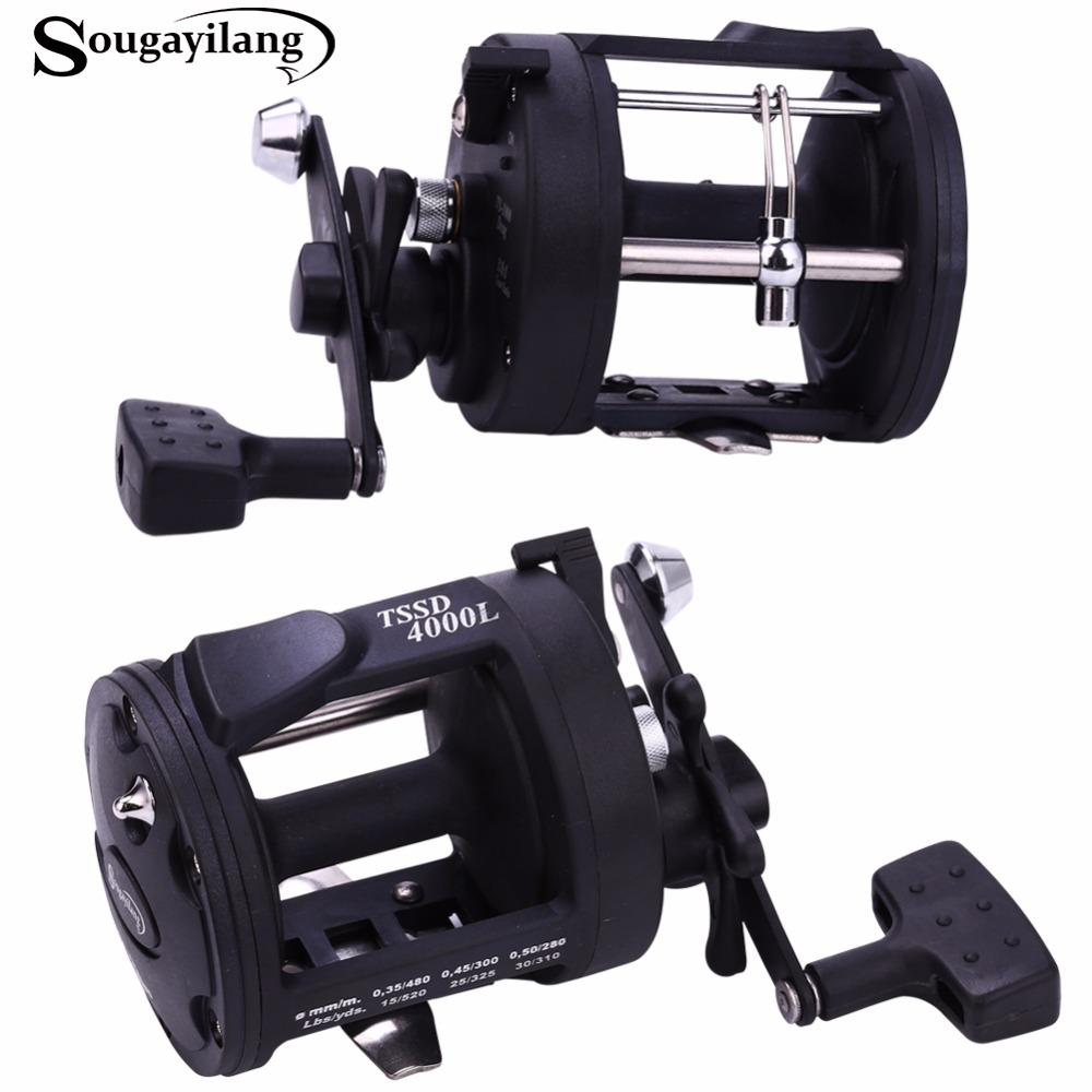 Sougayilang drum trolling fishing fishing reels 3 8 1 for Deep sea fishing rods and reels combo