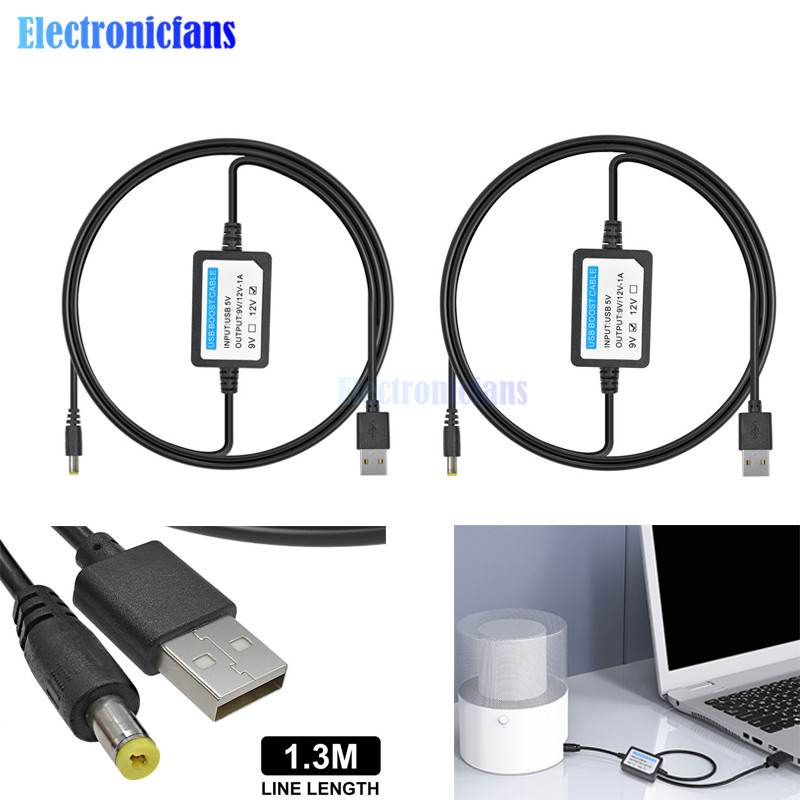 1.3M 5V to 12V 1A Round Hole Boost Cable 5.5*2.1mm USB to DC Convert Cable