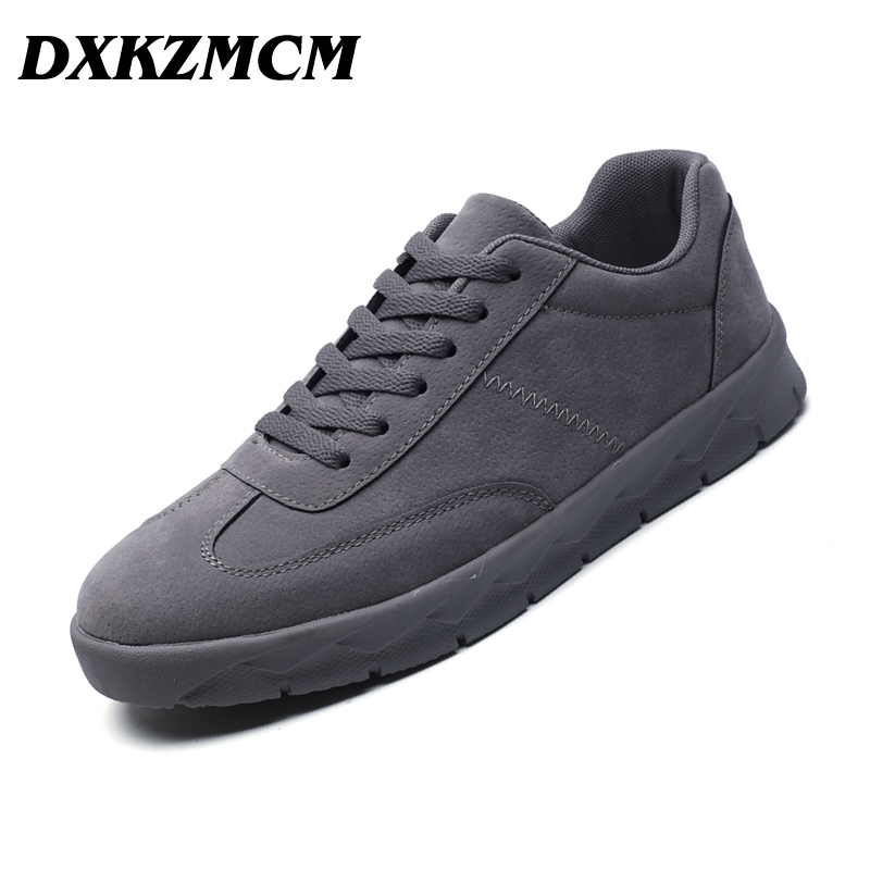 DXKZMCM 2018 Men Casual Shoes Spring Autumn Lace up British Style Breathable Mesh Top Fashion Flat Sneaker Shoes cimim spring autumn brand genuine leather shoes british style handmade male lace up fashion shoes men casual flats shoes for men