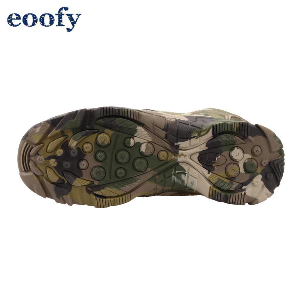 Jungle camouflage boots military combat boots Lightweight Camo Hiking Motorcycle Shoes for Men/women With Zipper Breathable 1