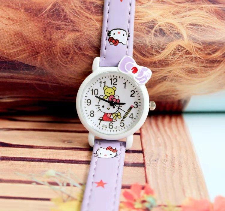KT Cat Watch Fashion Cute Cartoon  Hello Kitty  Watches  Girls Watches  Watches For Kids 2019 Gifts For Girls