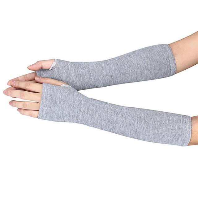 2018 invierno brazo de muñeca mano calentador de punto sin dedos de ...