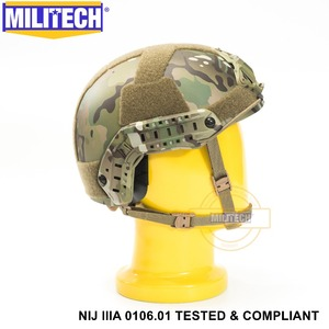 Image 4 - ISO Certified MILITECH MC NIJ Level IIIA 3A FAST OCC Liner High XP Cut Bulletproof Aramid Ballistic Helmet With 5 Years Warranty