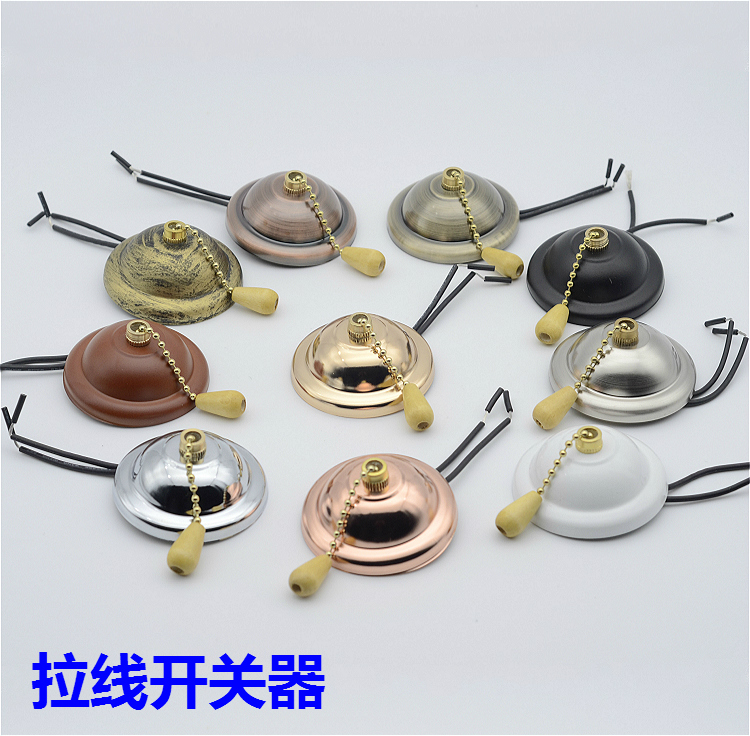 Pull switch with ceiling rose 3A 220V Zipper switch for ...