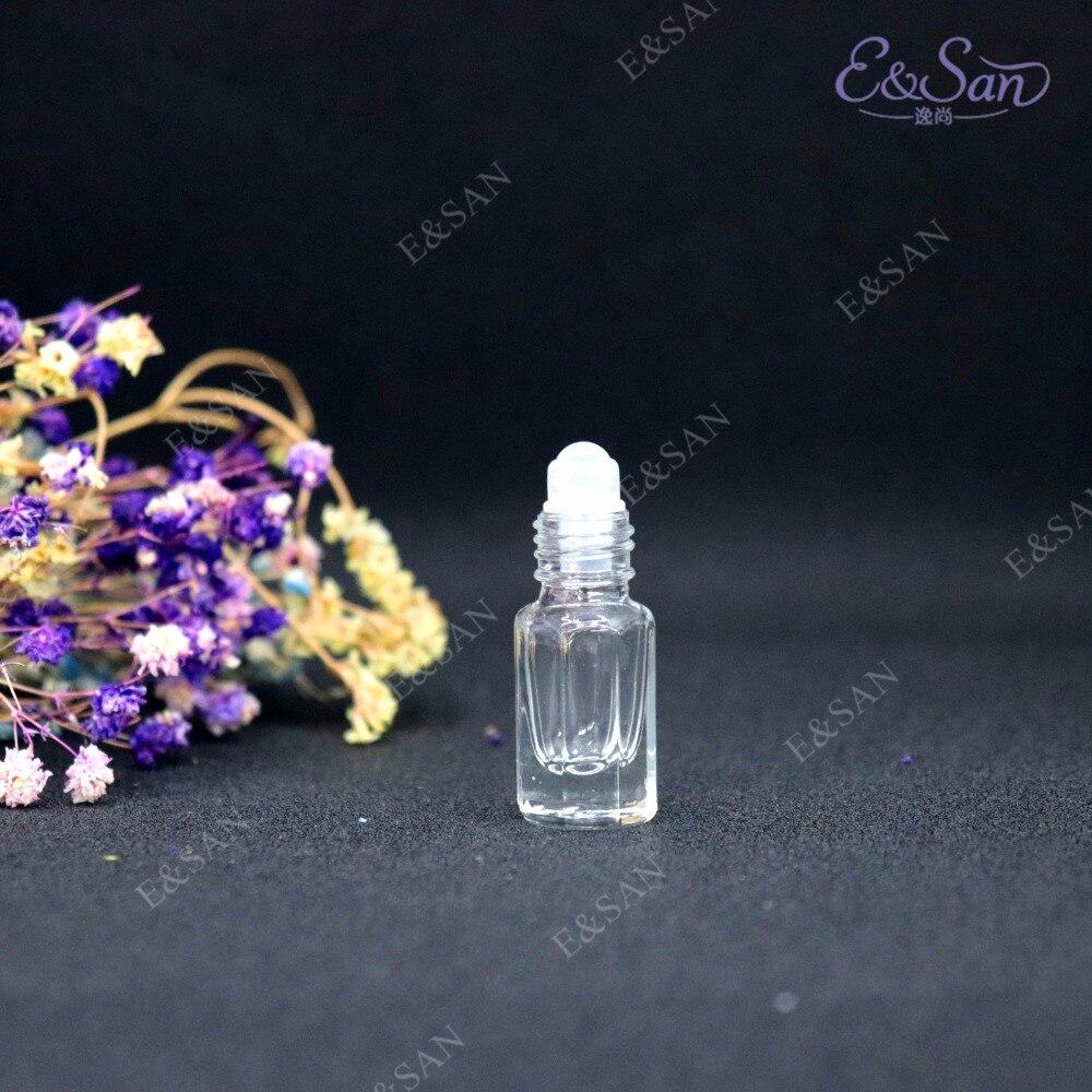 Venta al por mayor de 3 ml de rollo octogonal en botella de cristal de Perfume Min embotellado 100 unids/lote-in Botellas rellenables from Belleza y salud    3