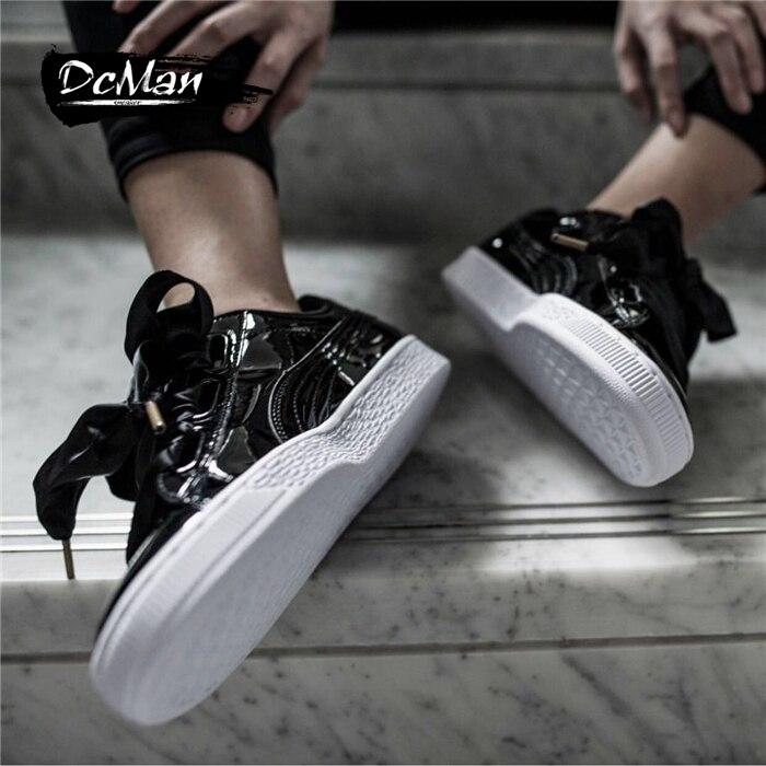 Original PUMA Basket Heart Patent Womens Sneakers Suede Satin Badminton Shoes size36-40
