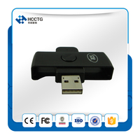 Mini USB Contact Smart Card Reader & Writer ACR38U N1 PocketMate 4MHZ For CCID PC/SC support Cards&Security Logic