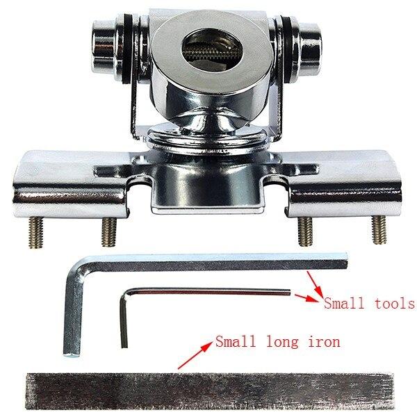 imágenes para Antena soporte rb-400 borde clip de plata ángulo ajustable universal para yaesu ft-7800e qyt kt8900 tyt th9800 bj218 8900r radicales coche