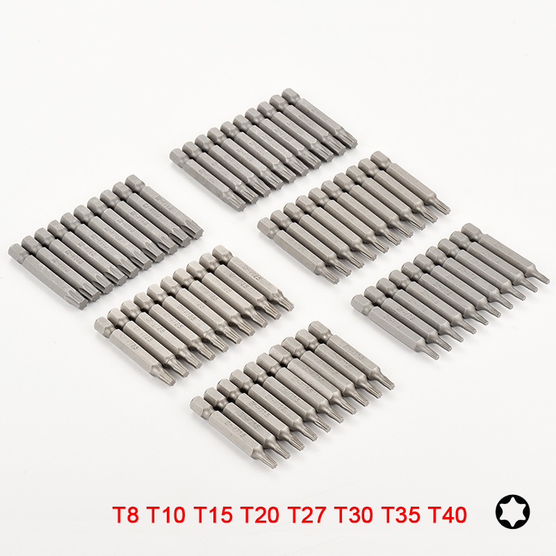 10Pcs 1//4 Inch Hex Shank 2 T7-T40 Magnetic Torx Security head Screwdrivers Bits Set /& Extra included 60mm Nut Driver Drill 50mm