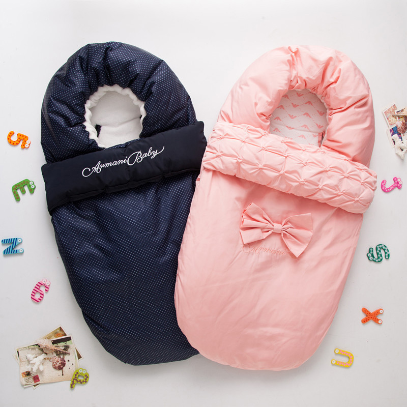 Baby Sleeping Bag Winter Envelope For Newborns Sleep Thermal Sack Cotton Kids Sleep Sack In The Baby Cart Blanket цены