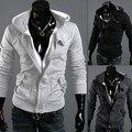 New Arrival Men's Fashion Casual Long Sleeve Slim Zipper Cardigan Hooded Hoodie Jacket Coat