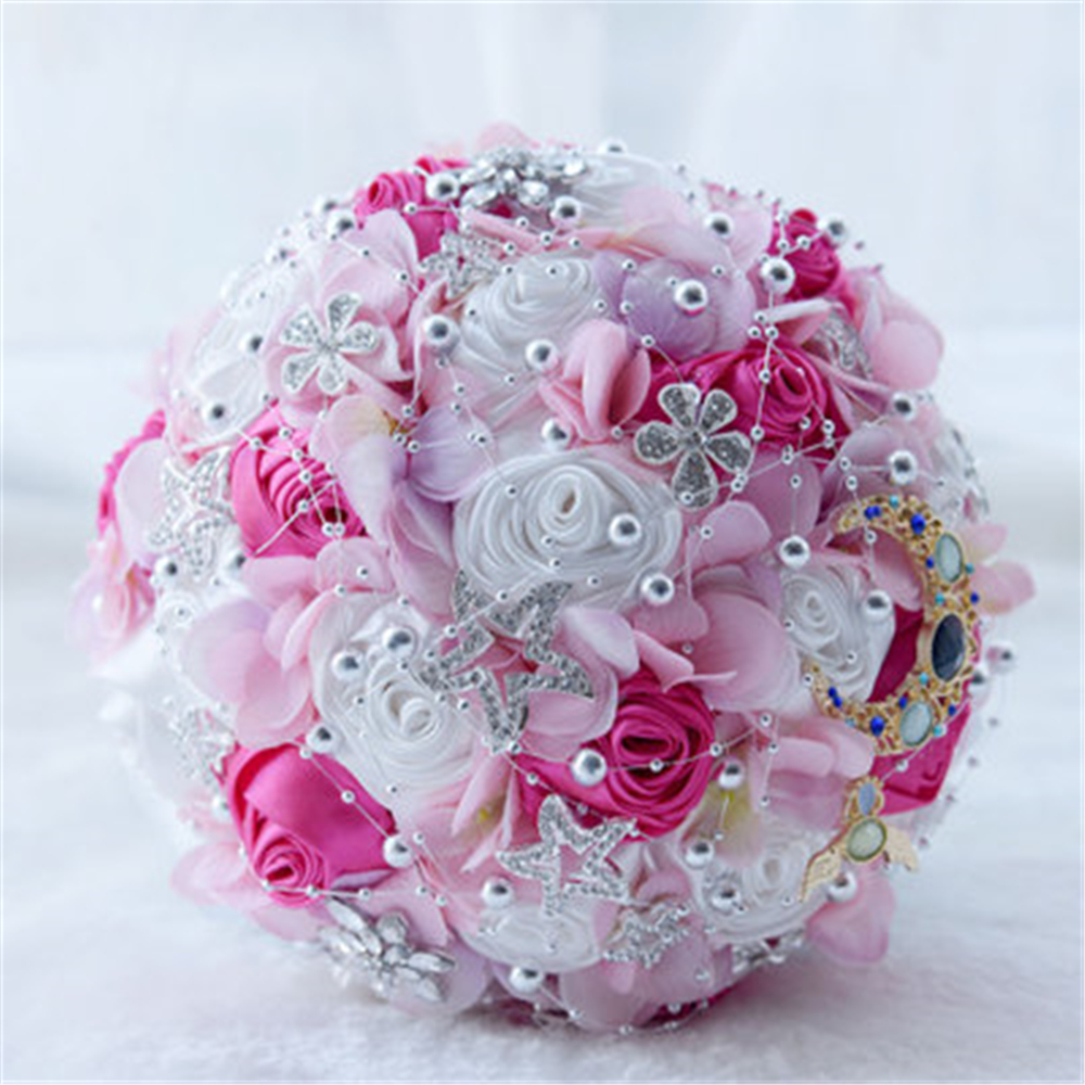 Bouquets Wedding Bouqet Wedding Flowers Bride Bouquet Bridesmaid Bouquet Blue Flowers Bouquet Wedding Bouquet Pearls Crystals