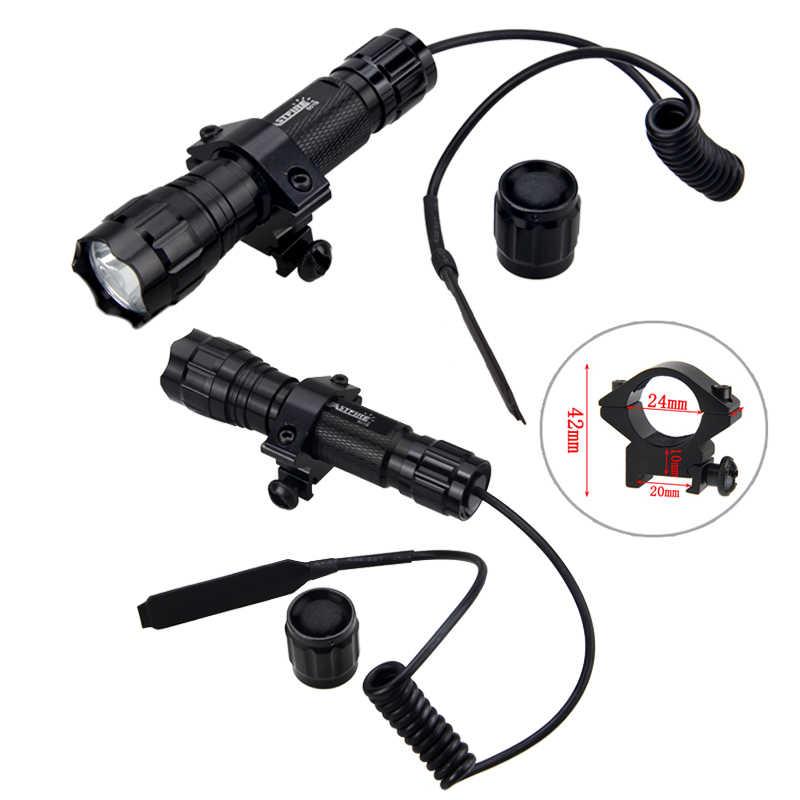 טקטי 501B נשק אקדח פנס לציד XML-T6/Q5 5000 lumens מיני סקאוט אור Lanterna Fit 20mm Rail רובה היקף הר