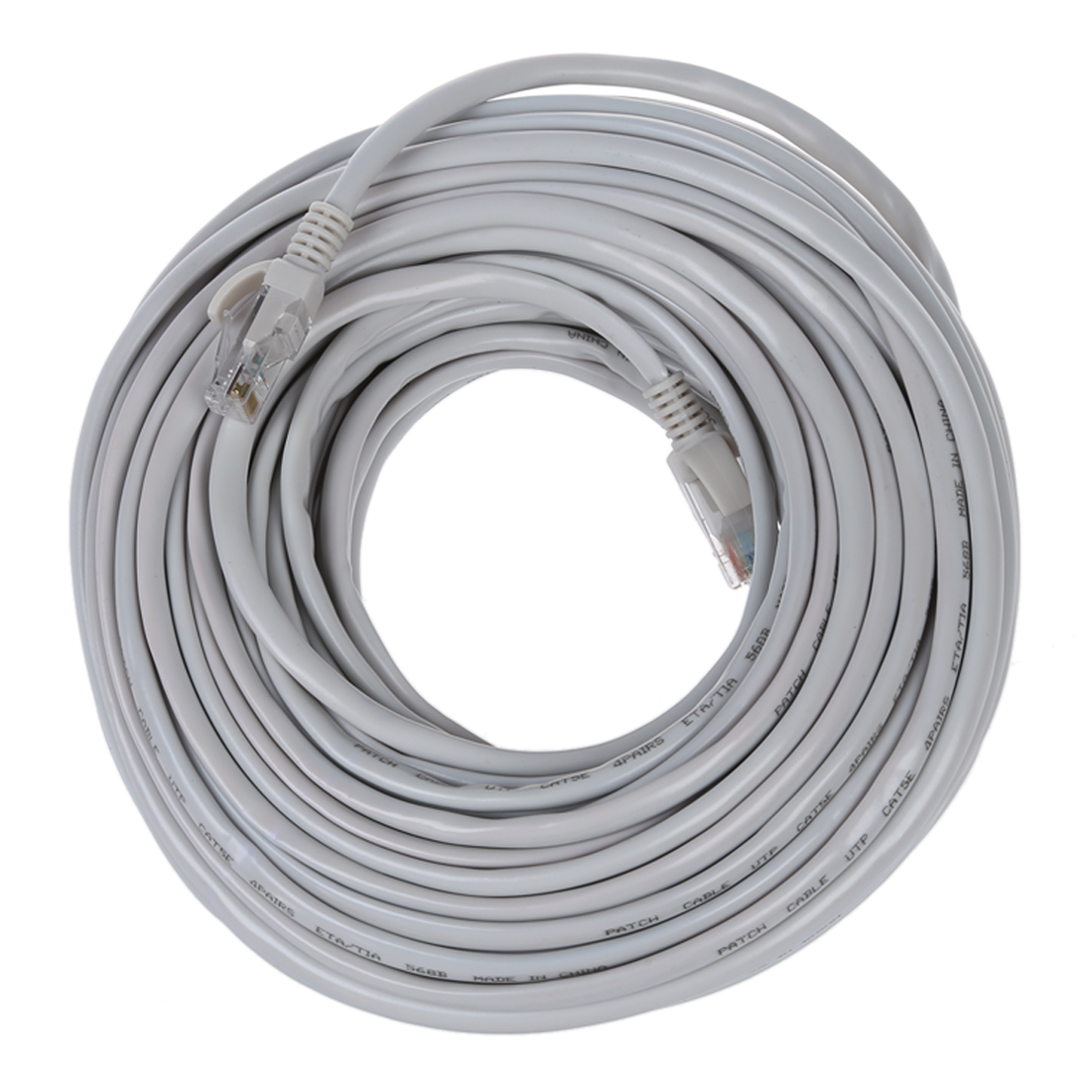 Ethernet Cable, CAT5e - 100 ft White (LAN hardware) EIA568 Patch ...