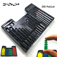 ZtDpLsd 300 Piece Drill Bit Set Screwdriver Bit And Wall Plug Set Include Metal Wood Masonry