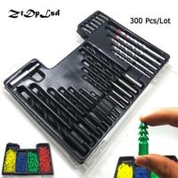 ZtDpLsd 300 Piece Drill Bit Set Screwdriver Bit And Wall Plug Set Include Metal Wood Masonry
