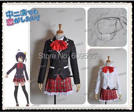 e77032710b095 Free Shipping! New Chuunibyou Demo Koi Ga Shitai! Takanashi Rikka Cosplay  Costume School Uniform