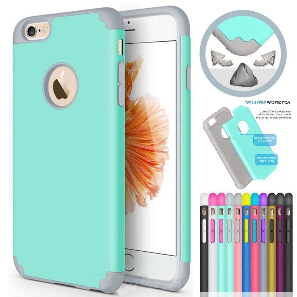 7Plus Case 2In 1 Hybrid Shockproof Phone Apple Iphone X 8Plus Case 8 7 6S Plus 6 6S Coque Protective Hard Back Cover