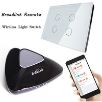 Livolo US AU Standard Crystal Waterproof Glass Touch Screen Wireless Wall Light Switch Wifi Switch Remote
