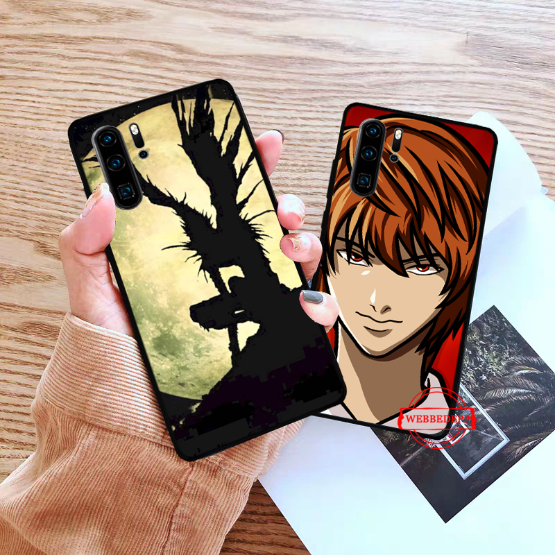WEBBEDEPP Death Note Silicone Case for Huawei P8 Lite 2015 2017 P9 2016 Mimi P10 P20 Pro P Smart 2019 P30 in Fitted Cases from Cellphones Telecommunications