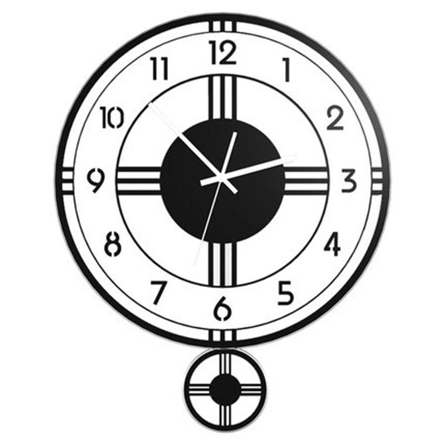 Horloge industrielle murale numérique nordique Design grande horloge murale Design moderne Marij Uana Ferforje pendule montre décor maison cuisine