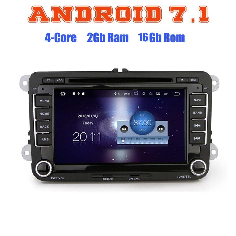 Android 7 1 Quad Core Car Dvd Gps For VW JETTA Golf Passat MK5 MK6 MK7